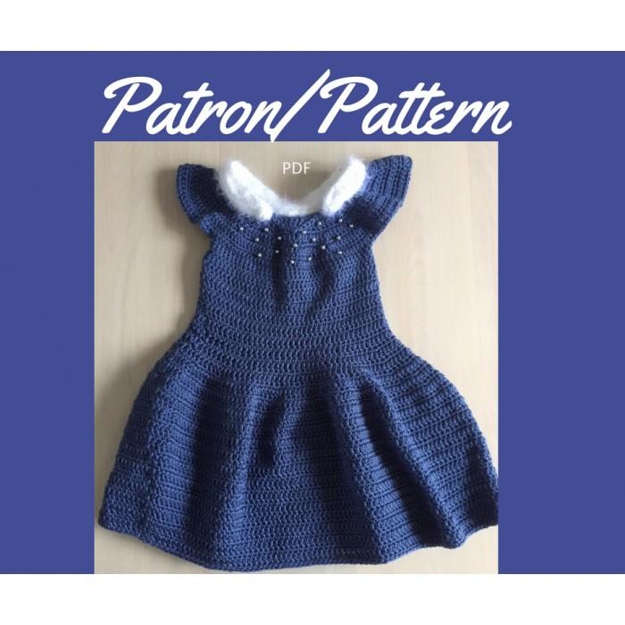 Patron crochet - Robe pour fillette Princesse d'hiver