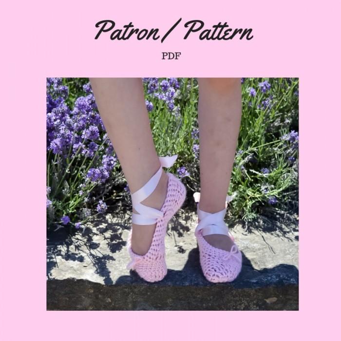 Patron crochet- Pantoufles ballerine