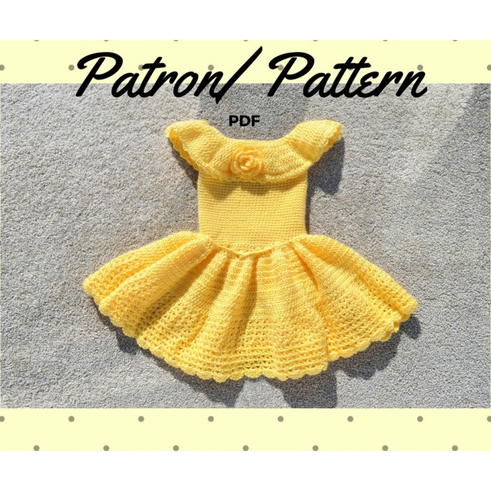 Patron au crochet - Robe pour fillette princesse