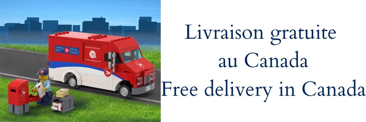 Livraison gratuite au Canada