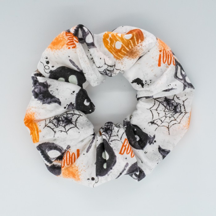 Chouchou cheveux - motif Halloween Citrouilles