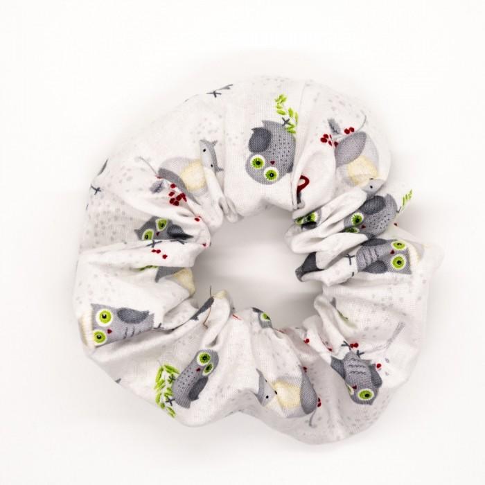 Chouchou - hiboux sur blanc