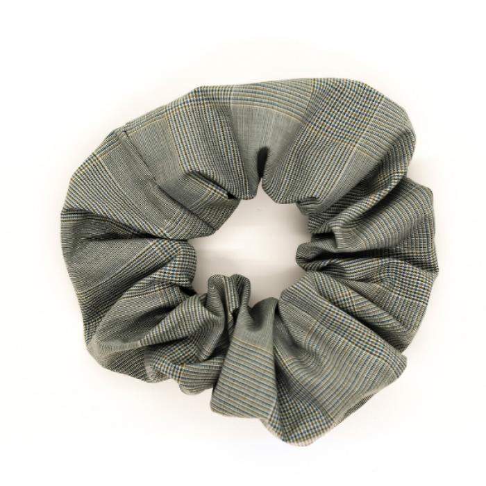 Chouchou - carreaux gris vert