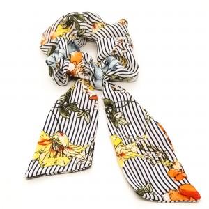 Chouchou cheveux - motif fleurs