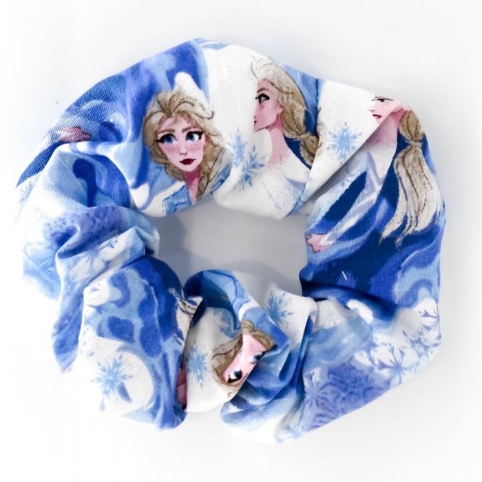 Chouchou cheveux - motif reine des neiges Elsa