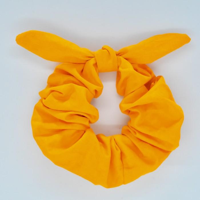 Chouchou cheveux - motif Uni jaune