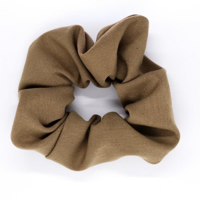 Chouchou cheveux - motif Uni beige