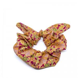 Chouchou cheveux - motif fleurs Paisley