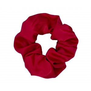 Chouchou cheveux - Satin rouge
