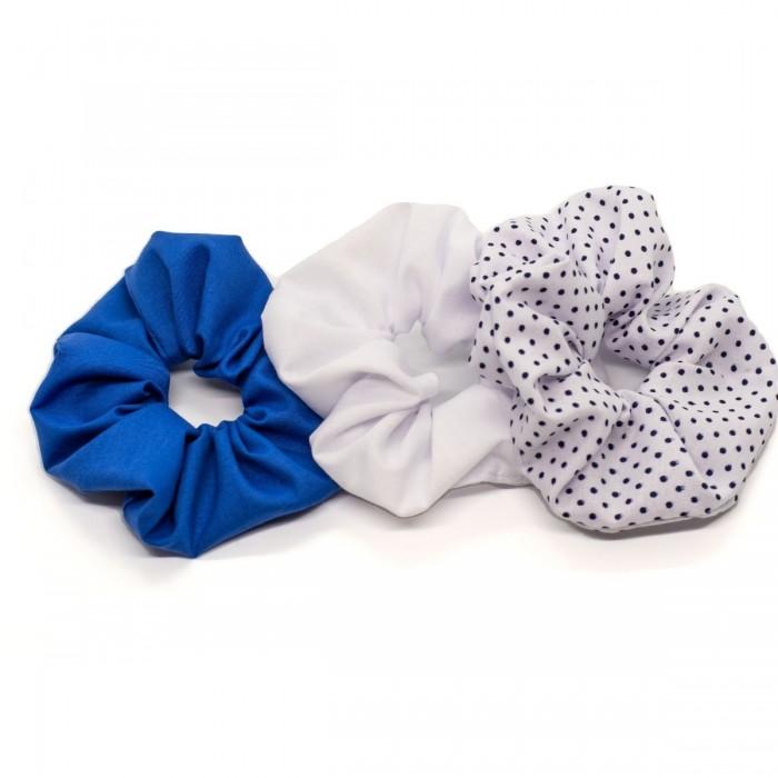 Trio de mini chouchous - Bleu