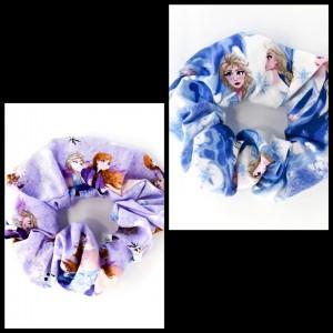 Chouchou cheveux - motif reine des neiges